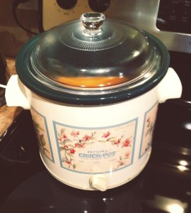 It's not pretty but this crockpot has served me well...and store it out of sight!