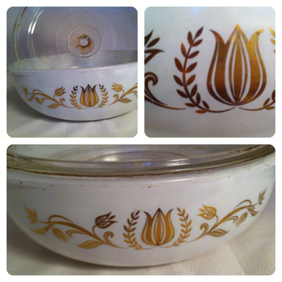 cleaning vintage pyrex