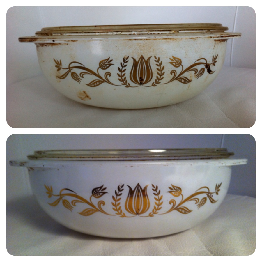 vintage pyrex cleaning