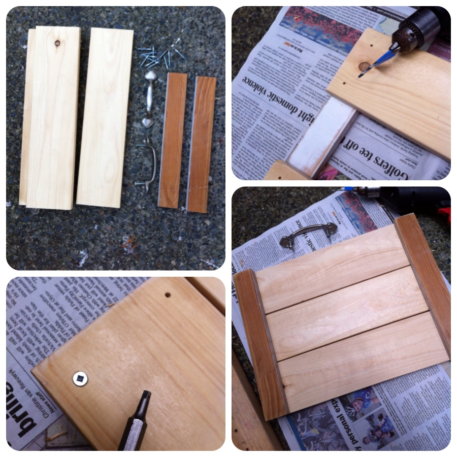 rustic tray DIY