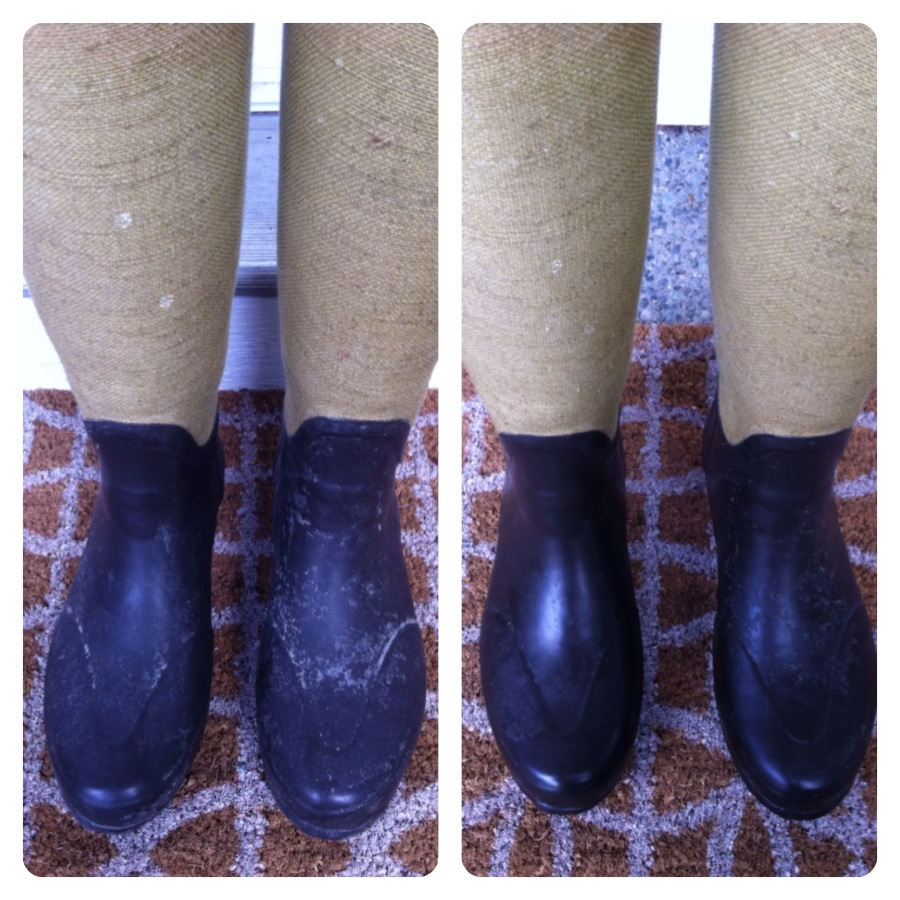 clean Hunter boot DIY