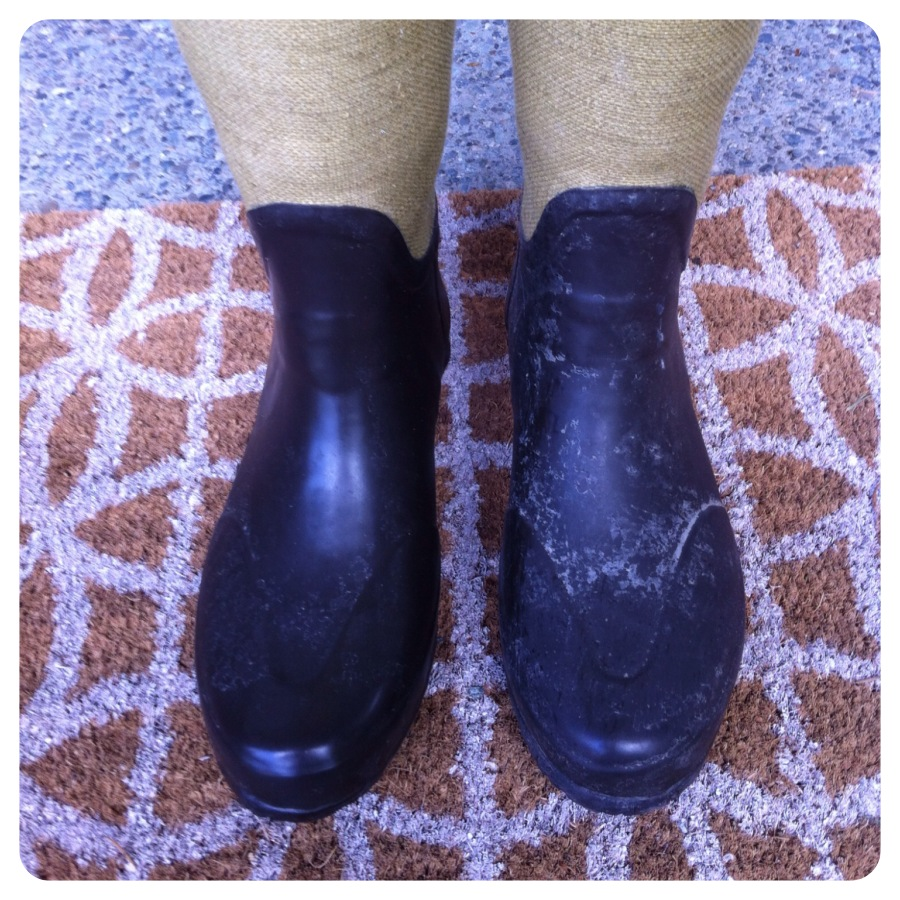 clean Hunter boots DIY