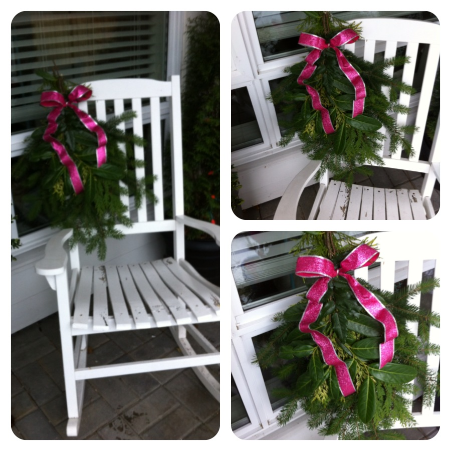 pink patio for Christmas