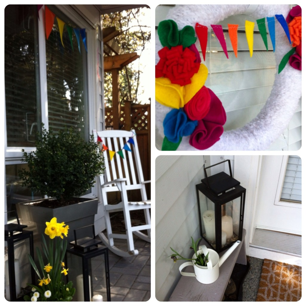 Rainbow porch at www.nestinthewest.com