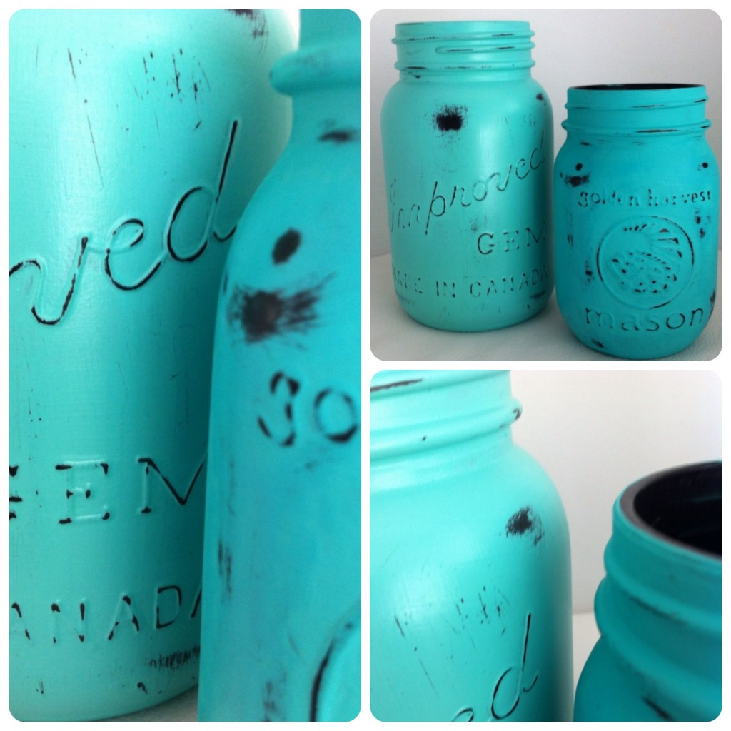Distressed canning jar DIY www?nestinthewest.com